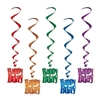 Happy Birthday Whirls (5/pkg)