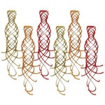 Gold, Orange, and Red Shimmering Whirls (6/pkg)