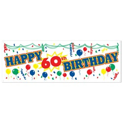 Happy 60th Birthday Sign Banner