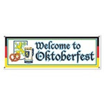 Welcome To Oktoberfest Sign Banner
