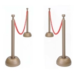 Red Rope Stanchion Set