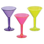 Lime Green, Pink and Purple Martini Shot Glasses (6/pkg)