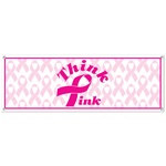 Pink Ribbon Sign Banner