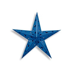 Blue Dimensional Foil Star (12 inch)