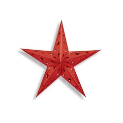 Red Dimensional Foil Star (12 inch)