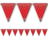 Western Red Bandana Pennant Banner