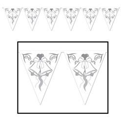 Wedding Bells Pennant Banner