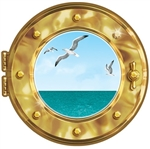 Cruise Ship Porthole Peel-N-Place Decal