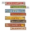 Old Western Sign Cutouts (4/pkg)