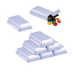 Silver Bar Favor Boxes (12/pkg)