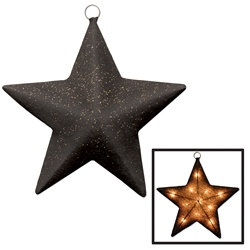 Black and Gold Light-Up Star