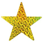 Gold Prismatic Foil Star (9 inch)