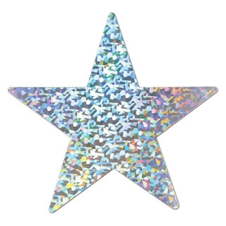 Silver Prismatic Foil Star (Choose Size)