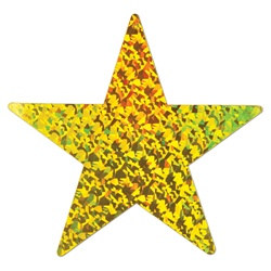 Gold Prismatic Foil Star (15 inch)