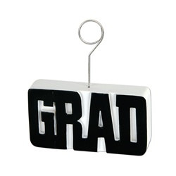 Black GRAD Photo/Balloon Holder