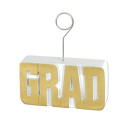 Gold GRAD Photo/Balloon Holder