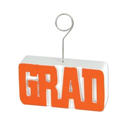 Orange GRAD Photo/Balloon Holder