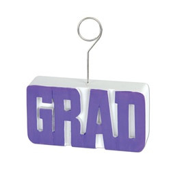Purple GRAD Photo/Balloon Holder