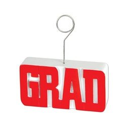 Red GRAD Photo/Balloon Holder