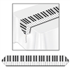 Printed Piano Keyboard Table Runner