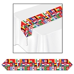 Printed International Flag Table Runner