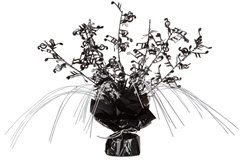 Black and Silver Musical Note Gleam N Spray Centerpiece