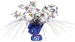 Multicolor Musical Note Gleam N Spray Centerpiece