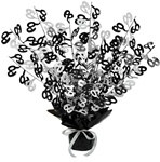 60th Gleam N Burst Centerpiece (Black & Silver)