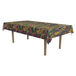 Mardi Gras Beads Tablecover
