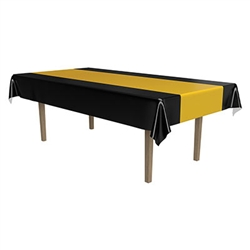 Black and Gold Plastic Tablecover
