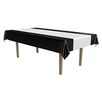 Black and Silver Plastic Tablecover
