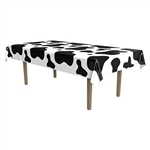 Cow Spots Plastic Tablecover