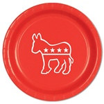 Red Democratic Plates (8/pkg)