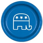 Blue Republican Plates (8/pkg)