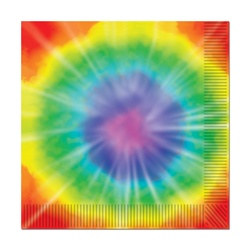 Tie-Dyed Lunch Napkins (16/pkg)