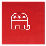 Red Republican Luncheon Napkins (16/pkg)