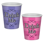 Enjoy a hot or cold drink with Alice and the Mad Hatter with these Alice in Wonderland Beverage Cups. These colorful cups hold up to nine ounces of liquid and there is a total of eight cups per package.