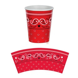 Bandana Hot/Cold Cups (8/pkg)