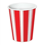 Red & White Stripes Beverage Cups (8/pkg)