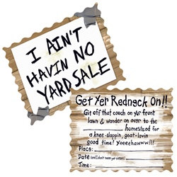 Redneck Invitations (8/pkg)