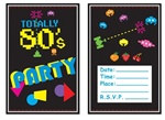 80s Theme Party Invitations