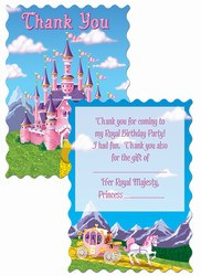 Princess Party Thank You Notes