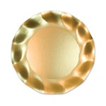 Satin Gold Medium Plates (10/pkg)
