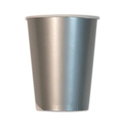 Metallic Silver Cups (10/pkg)