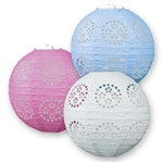 Lace Paper Lanterns 3/pkg (choose color)