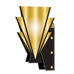 Use these 3-D Great 20's Wall Sconces to make the walls pop at your awards night or Hollywood theme party! The sconces come completely assembled and the design is printed on two sides. Each piece measures 15 inches and there are two in the package.