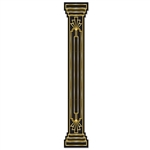The Jointed Great 20's Column Pull-Down Cutout is an ideal decoration for a Hollywood themed party or an awards night. It measures six feet tall and the jointed properties of the column pull-down allow you to pose it however you would like.