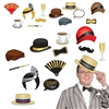 Get loud at your 1920s party and take some awesome photos with our Great 20's Photo Fun Signs. Some of the signs include a fancy hat, a cup of coffee and a classic mustache. There are a total of 12 pieces, with each measuring from 6.25 inches to 11 inches