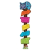 Your guests will know exactly where to go for the party with this Directional Post cutout, complete with the Cheshire Cat.  A great addition to your Alison in Wonderland party theme.