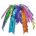 This colorful Palm Leaf Cascade is perfect for a tropical themed party. It measures 24 inches and the metallic foil colors give it quite a unique look. Comes one cascade per package.